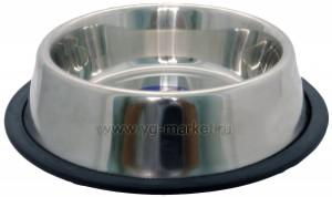 Миска металлическая (Уют) на резинке 0,47 л