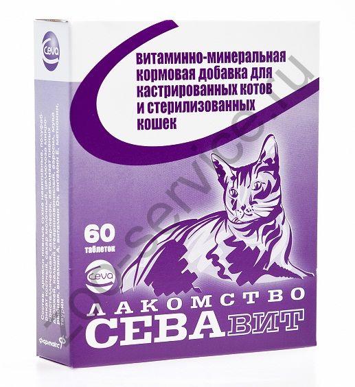Ceva поливитамины: для кастрированных котов и стерилизованных кошек 60 таб.