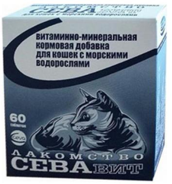 Ceva поливитамины: для кошек морские водоросли 60 таб.